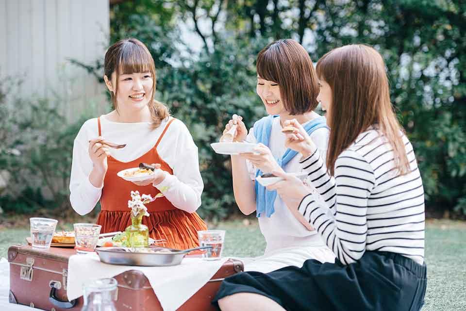 友達とピクニック