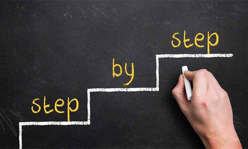 ステップを作る