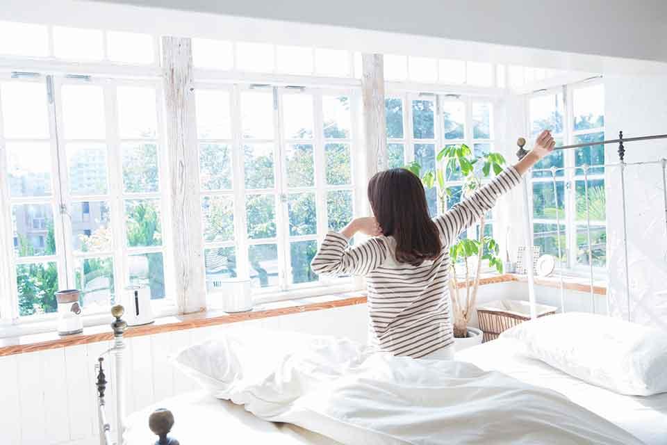 起きる時刻を設定して、起きてみましょう。