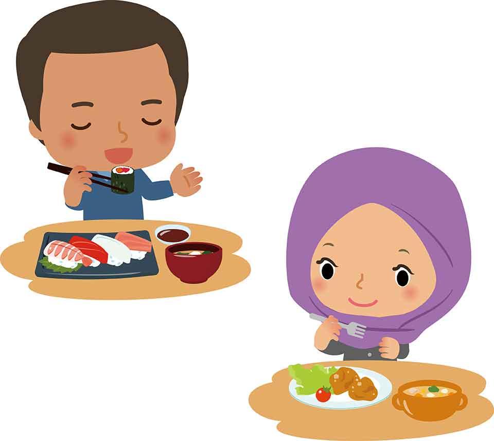 1.相手の国の食事を何でも食べる