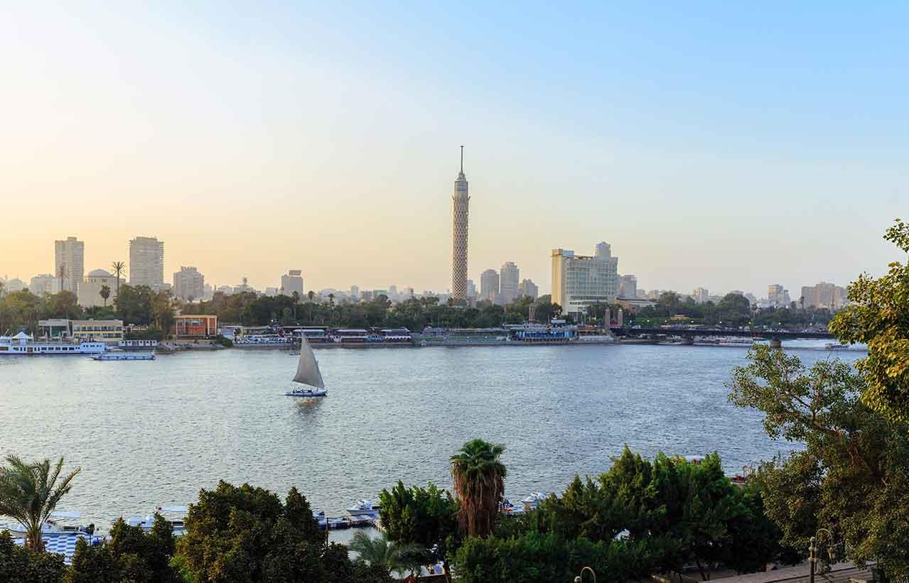ナイル川とカイロ市内の風景