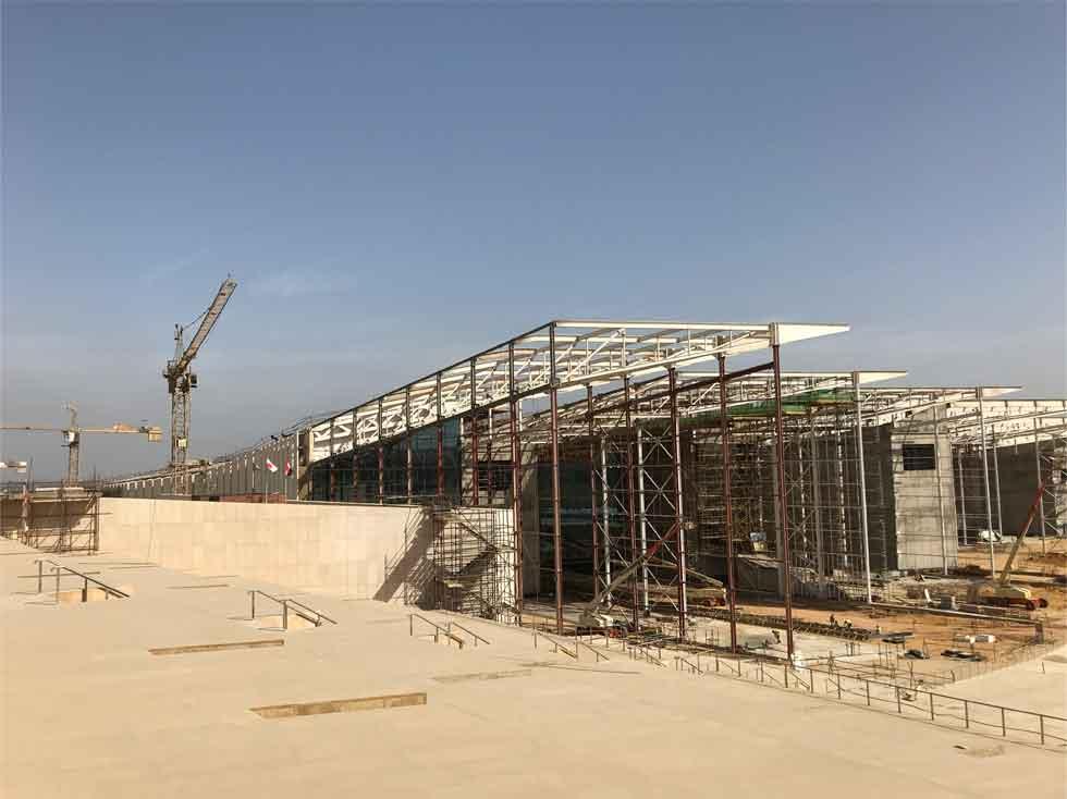 日本の資金支援で建設中の新・考古学博物館